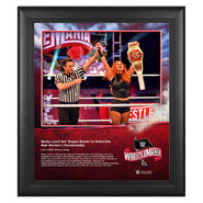 WrestleMania 36 Becky Lynch 15 x 17 Limited Edition Plaque