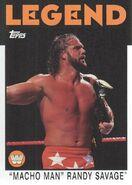 2016 WWE Heritage Wrestling Cards (Topps) Randy Savage 90