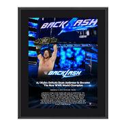 AJ Styles Backlash 2016 10 x 13 Photo Plaque