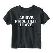 Stone Cold Steve Austin Arrive. Raise Hell. Leave Toddler T-Shirt