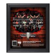 Authors of Pain NXT TakeOver San Antonio 15 x 17 Framed Plaque w Ring Canvas