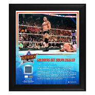 Goldberg SummerSlam 2019 15 x 17 Framed Plaque w Ring Canvas