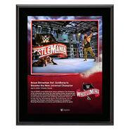 WrestleMania 36 Braun Strowman 10 x 13 Limited Edition Plaque