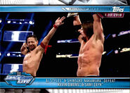 2019 WWE Road to WrestleMania Trading Cards (Topps) AJ Styles & Shinsuke Nakamura 86
