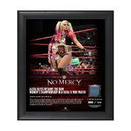 Alexa Bliss No Mercy 2017 15 x 17 Framed Plaque w Ring Canvas