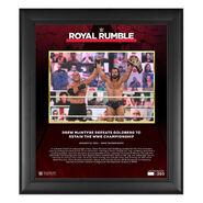 Drew McIntyre Royal Rumble 2021 15 x 17 Commemorative Plaque