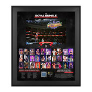 WWE Women's Royal Rumble 2018 20 x 24 Framed Plaque w Ring Canvas