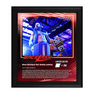 Drew McIntyre Backlash 2020 15x17 Limited Edition Plaque
