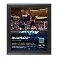 Kane Backlash 2016 15 x 17 Framed Plaque w Ring Canvas
