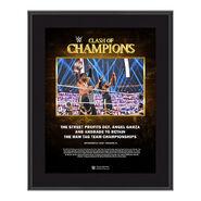 Street Profits Clash of Champions 2020 10 x 13 Commemorative Plaque