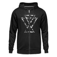 Undisputed Era Camo Logo Full-Zip Hoodie Sweatshirt