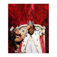Booker T King Booker & Sharmell 11 x 14 Rob Schamberger Art Print