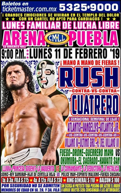 CMLL Lunes Arena Puebla (February 11, 2019)