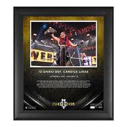 Io Shirai NXT Takeover 31 15 x 17 Commemorative Plaque