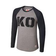 Kevin Owens KO Raglan Long Sleeve Shirt