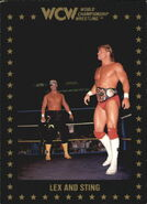 1991 WCW Collectible Trading Cards (Championship Marketing) Lex Luger and Sting 37
