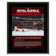 The Fiend Bray Wyatt Royal Rumble 2020 10x13 Commemorative Plaque