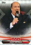 2019 WWE Raw Wrestling Cards (Topps) Paul Heyman 56