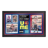 John Cena WrestleMania 31 Signed Commemorative Ring Canvas Framed Collage