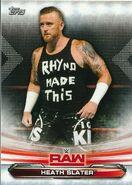 2019 WWE Raw Wrestling Cards (Topps) Heath Slater 33