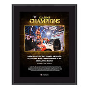 Drew McIntyre Clash of Champions 2020 10 x 13 Commemorative Plaque