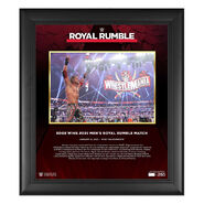 Edge Royal Rumble 2021 15 x 17 Commemorative Plaque