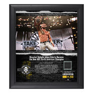Ricochet NXT TakeOver Brooklyn 2018 15 x 17 Framed Plaque w Ring Canvas