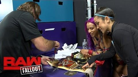 Sasha Banks gets her new Raw Women's Championship customized; November 28, 2016