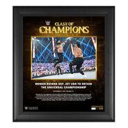 Roman Reigns Clash of Champions 2020 15 x 17 Commemorative Plaque