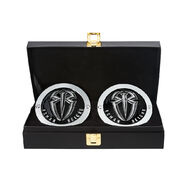 Roman Reigns WWE World Heavyweight Championship Replica Title Side Plate Box Set (Silver Edition)
