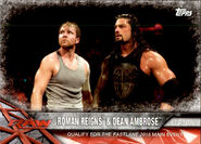 2017 WWE Road to WrestleMania Trading Cards (Topps) Roman Reigns & Dean Ambrose 18
