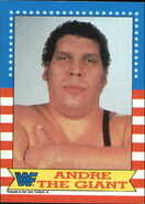 1987 WWF Wrestling Cards (Topps) Andre The Giant 2