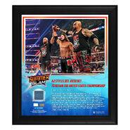 AJ Styles SummerSlam 2019 15 x 17 Framed Plaque w Ring Canvas