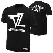 Dolph Ziggler World DZtruction Tour Authentic T-Shirt