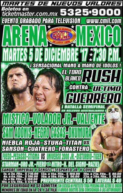 CMLL Martes Arena Mexico (December 5, 2017)