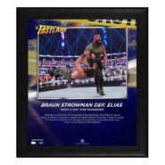 Braun Strowman FastLane 2021 15 x 17 Commemorative Plaque