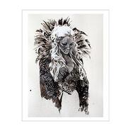 Charlotte Flair 11 x 14 Rob Schamberger Art Print
