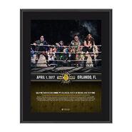 SAnitY NXT TakeOver Orlando 10 x 13 Commemorative Photo Plaque