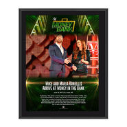 Mike & Maria Kanellis Money in the Bank 2017 10 x 13 Commemorative Photo Plaque