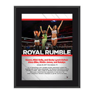 Nikki Bella, Becky Lynch, Naomi Royal Rumble 2017 10 x 13 Commemorative Photo Plaque
