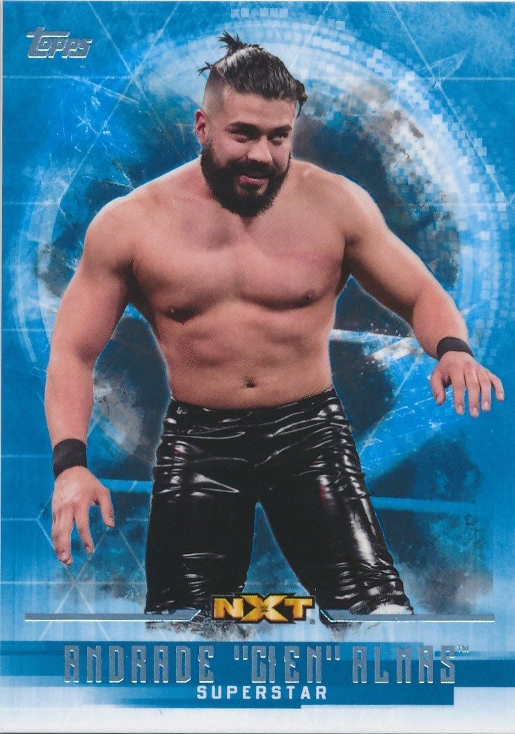 2017 WWE Undisputed Wrestling Cards (Topps) Andrade Almas (No.42)