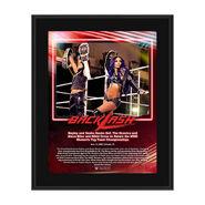 Bayley & Sasha Banks Backlash 2020 10x13 Commemorative Plaque