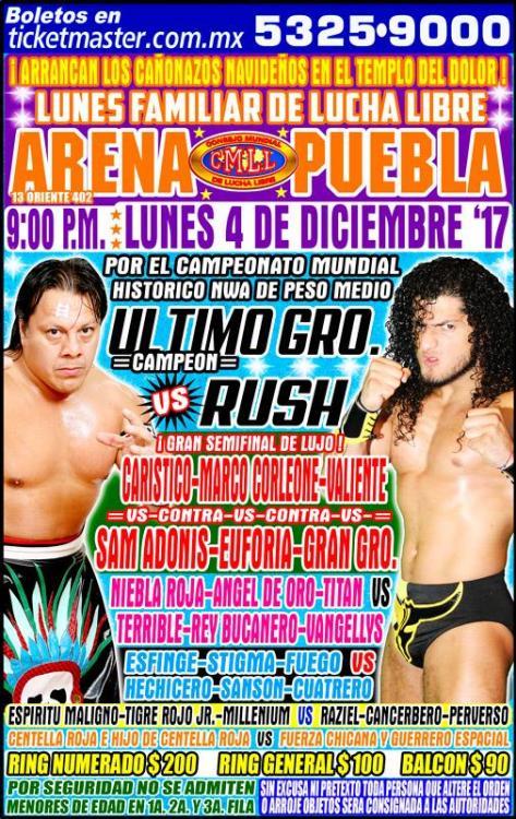 CMLL Lunes Arena Puebla (December 4, 2017)