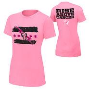 CM Punk Rise Above Cancer Pink Women's Authentic T-Shirt