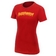 Hulk Hogan Hulkamania Red Women's Authentic T-Shirt