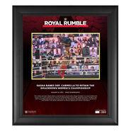 Sasha Banks Royal Rumble 2021 15 x 17 Commemorative Plaque