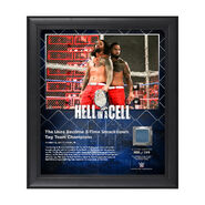 The Usos Hell In A Cell 2017 15 x 17 Framed Plaque w Ring Canvas