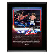 AJ Styles & Shinsuke Nakamura BackLash 2018 10 x 13 Photo Plaque