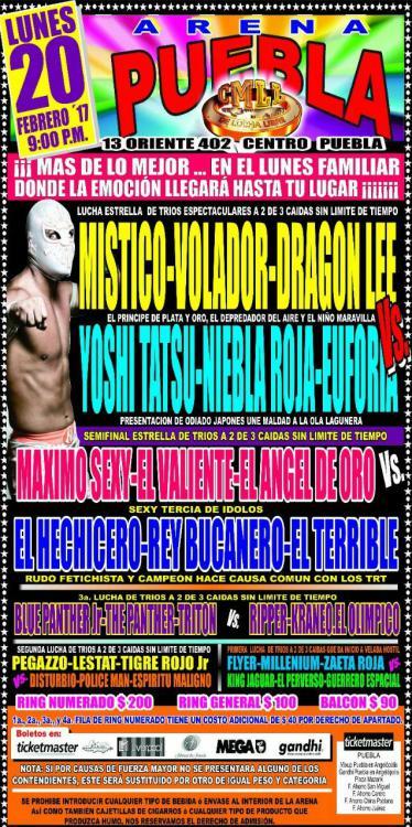 CMLL Lunes Arena Puebla (February 20, 2017)