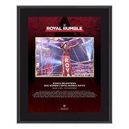 Bianca Belair Royal Rumble 2021 10 x 13 Commemorative Plaque